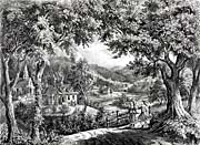 Currier And Ives New England Scenery