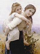 William Bouguereau Not Too Much to Carry