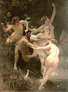 William Bouguereau Nymphs and Satyr