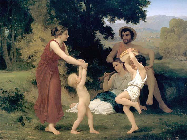 William Bouguereau Pastoral stretched canvas art print