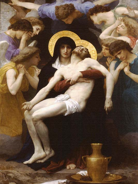 William Bouguereau Pieta 1876 stretched canvas art print