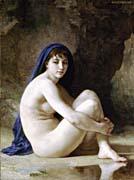 William Bouguereau Seated Nude
