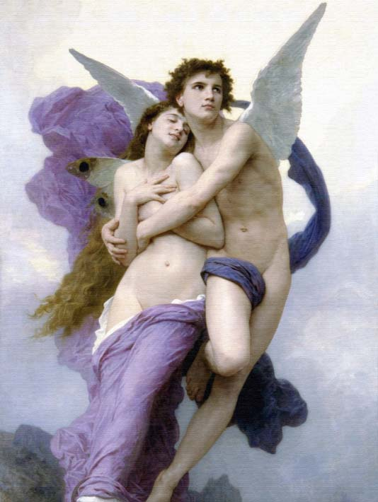 William Bouguereau The Abduction of Psyche stretched canvas art print
