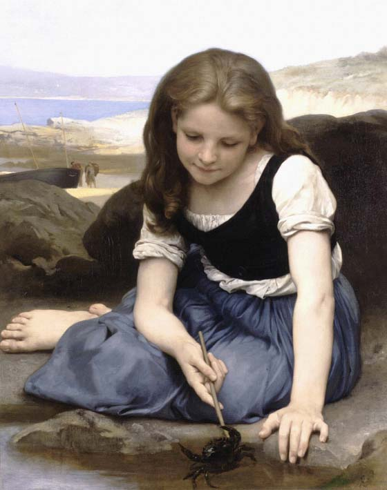 William Bouguereau The Crab stretched canvas art print