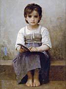 William Bouguereau The Difficult Lesson