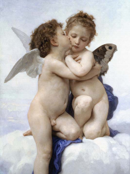 William Bouguereau The First Kiss stretched canvas art print