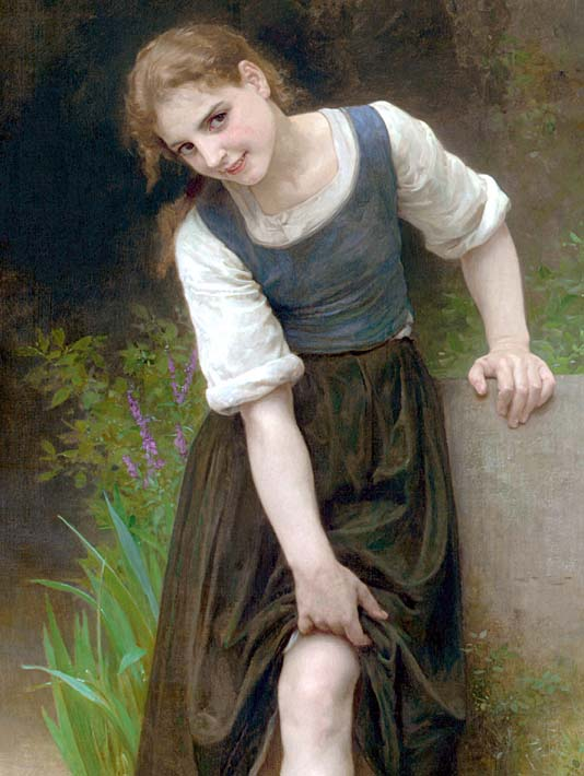 William Bouguereau The Ford stretched canvas art print