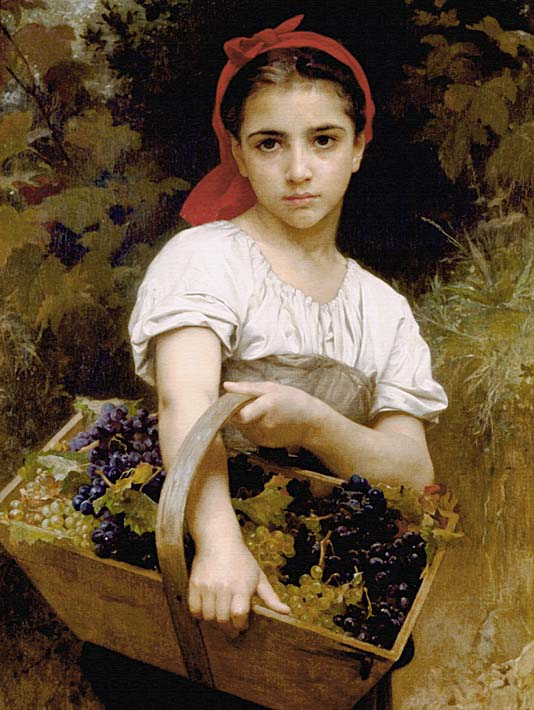 William Bouguereau The Grape Picker stretched canvas art print