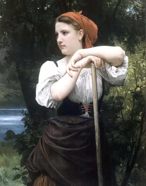 William Bouguereau The Haymaker stretched canvas art print