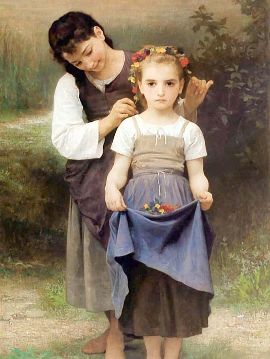 William Bouguereau The Jewel of the Fields stretched canvas art print