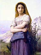 William Bouguereau The Knitter