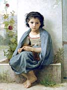 William Bouguereau The Little Knitter