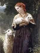 William Bouguereau The Shepardess canvas prints