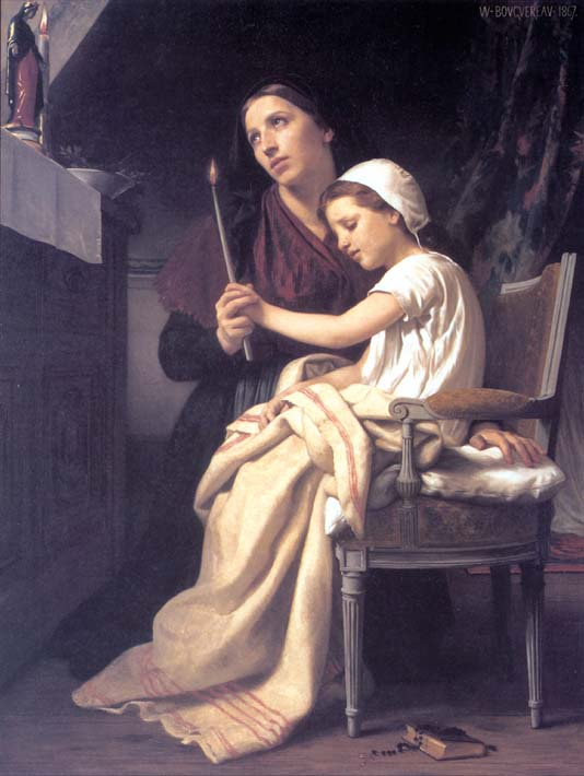 William Bouguereau The Thank Offering stretched canvas art print