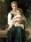 William Bouguereau The Two Sisters canvas prints