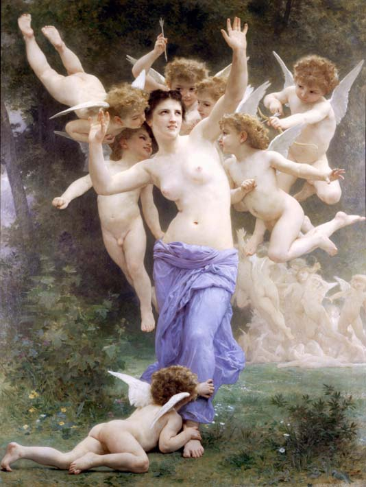 William Bouguereau The Wasp's Nest stretched canvas art print