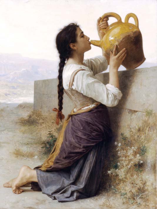 William Bouguereau Thirst stretched canvas art print