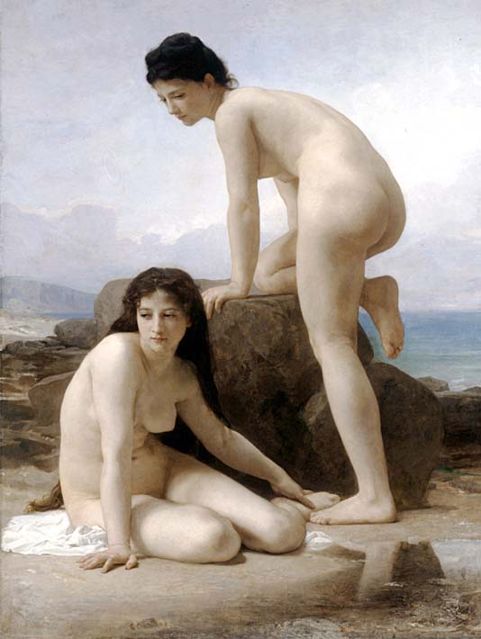 William Bouguereau Two Bathers stretched canvas art print