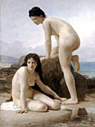 William Bouguereau Two Bathers canvas prints