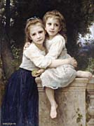 William Bouguereau Two Sisters