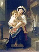 William Bouguereau Up You Go canvas prints