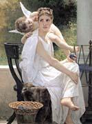 William Bouguereau Work Interrupted canvas prints
