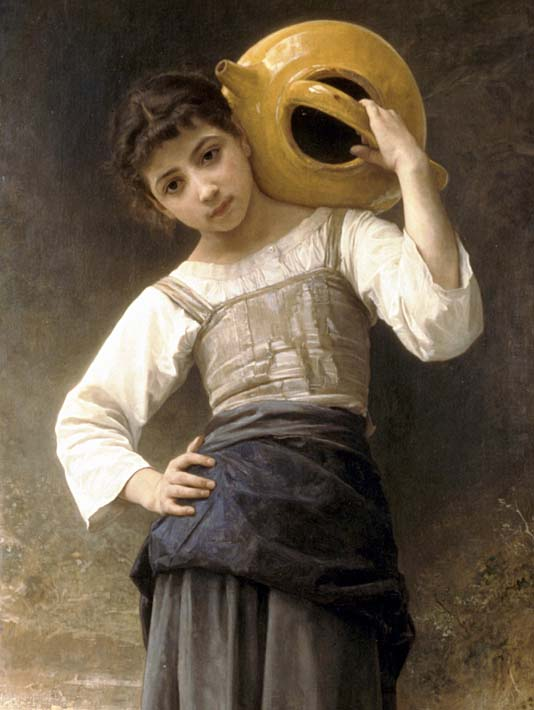 William Bouguereau Young Girl Going to the Fountain stretched canvas art print