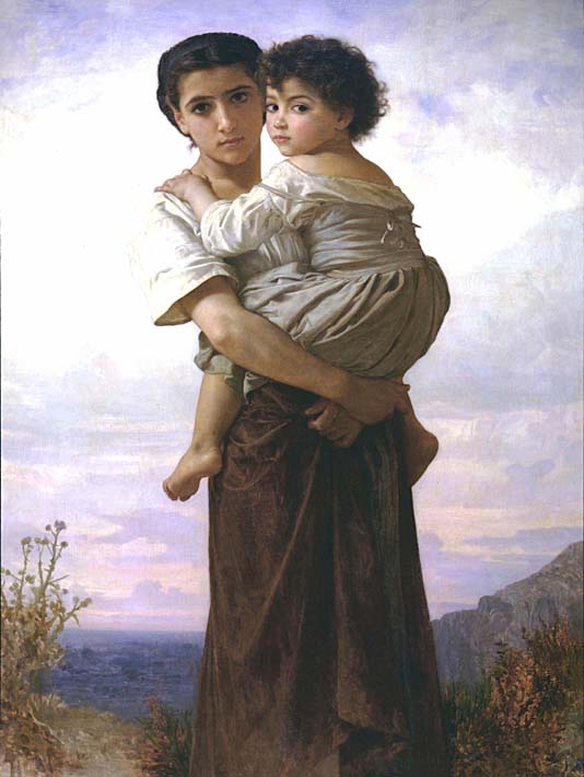 William Bouguereau Young Gypsies stretched canvas art print
