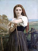 William Bouguereau Young Shepherdess