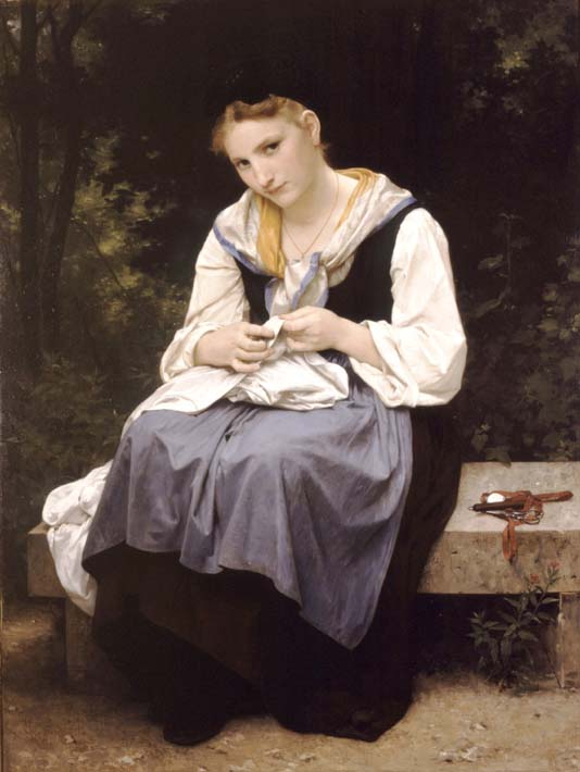 William Bouguereau Young Worker stretched canvas art print