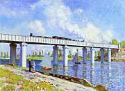 Claude Monet The Railroad Bridge, Argenteuil