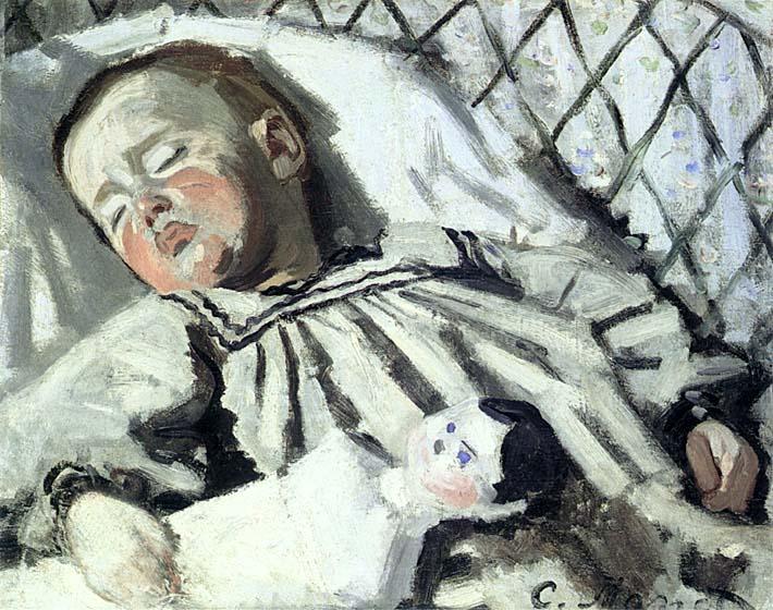 Claude Monet The Artist's Son Asleep stretched canvas art print