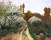Claude Monet Flowering Apple Trees