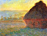 Claude Monet Haystack at Sunset near Giverny