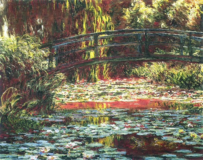 Claude Monet Japanese Foot Bridge at Giverny stretched canvas art print