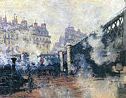 Claude Monet Le Pont de l'Europe 1877