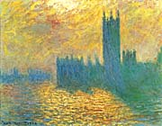 Claude Monet London, The Houses of Parliament, Stormy Sky
