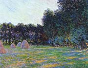 Claude Monet Meadow with Haystacks near Giverny
