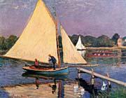 Claude Monet Sailboats at Argenteuil