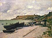 Claude Monet Sainte-Adresse, Fishing Boats on the Shore