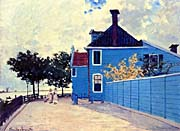 Claude Monet The Blue House, Zaandam