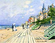Claude Monet The Boardwalk at Trouville