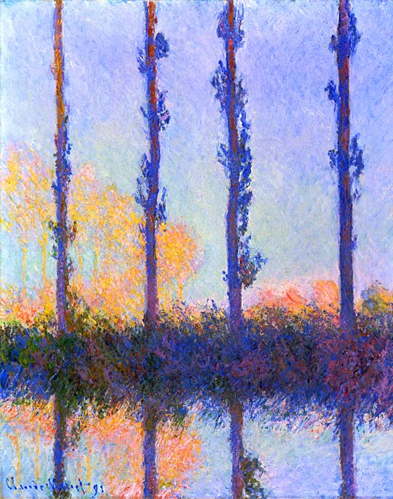 Claude Monet The Poplars stretched canvas art print
