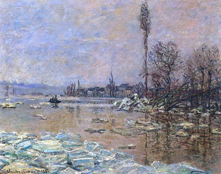 Claude Monet The Ice Floes stretched canvas art print