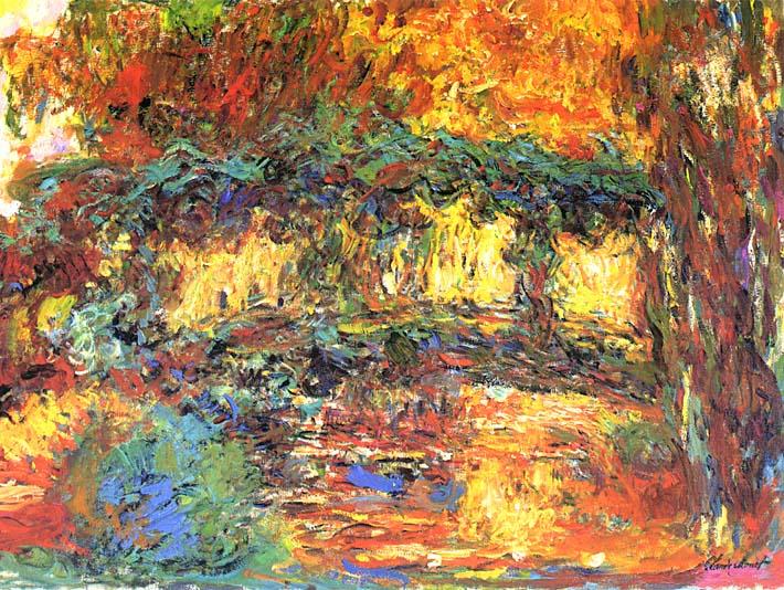 Claude Monet The Japanese Footbridge stretched canvas art print