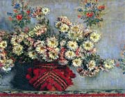 Claude Monet Vase with Chrysanthemums