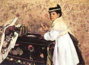 Edgar Degas Portrait of Hortense Valpincon