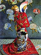 Claude Monet Camille Monet in Japanese Costume