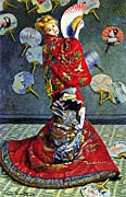 Claude Monet Madame Monet in Japanese Costume