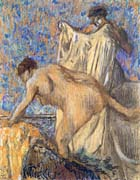 Edgar Degas After the Bath Pastel